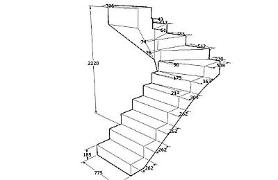 Бетонная лестница своими руками в 75